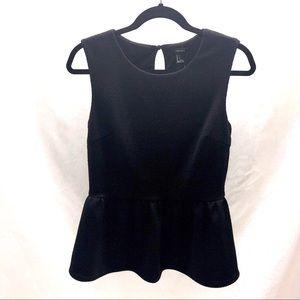 Forever 21 black peek-a-boo back sleeveless top